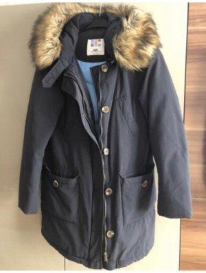 AJC Futrzana kurtka ciemnoniebieski