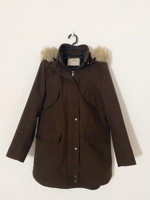 Zara Hooded Coat brown