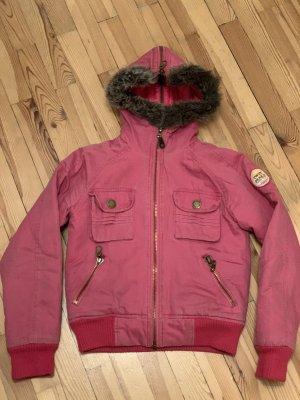 Pepe Jeans Veste d'hiver rouge framboise