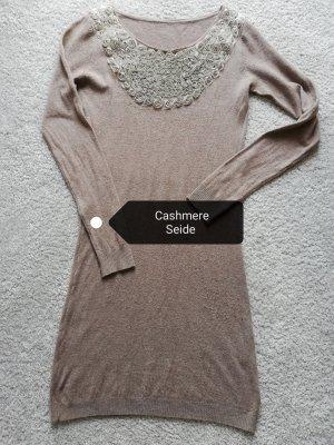 Boutique Robe en laine gris brun-marron clair
