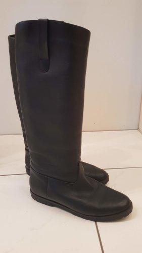 Winter Lederstiefel schwarz in Größe 40