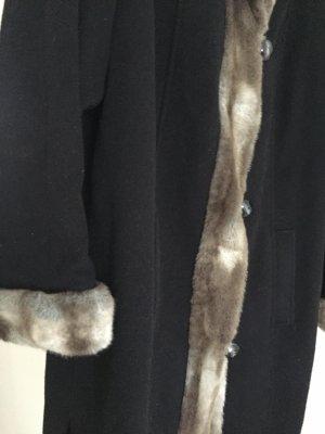 Winterjas zwart bruin-grijs-bruin