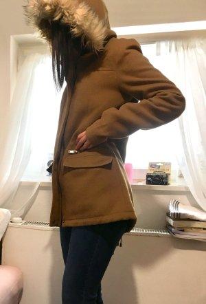 C&A Clockhouse Płaszcz polarowy brąz