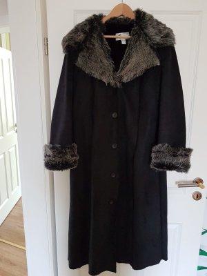 Gabardina tipo vestido negro-gris