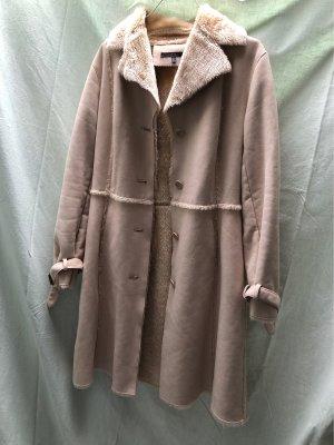 Zara Basic Manteau d'hiver crème
