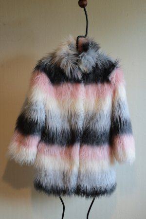 Next Fake Fur Jacket multicolored mixture fibre