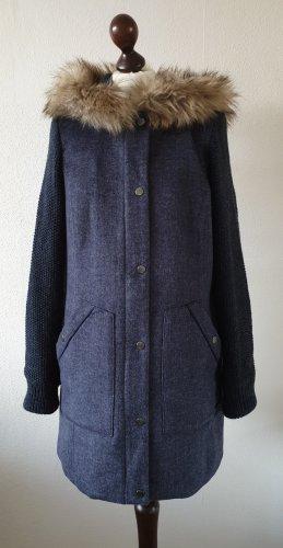 Winter-Mantel / Jacke von s.Oliver * Gr.36 * blau * Fake Fur * Kapuze