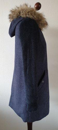 Winter-Mantel / Jacke von s.Oliver * Gr.38 * blau * Fake Fur * Kapuze