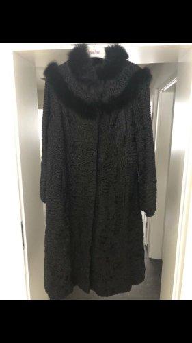Swakara Abrigo de piel negro