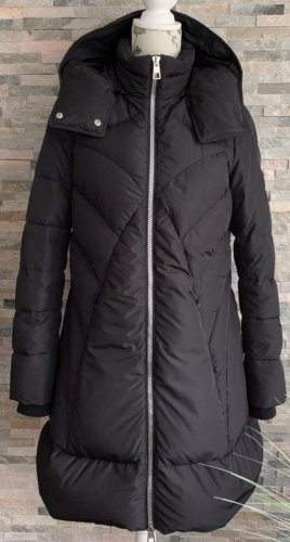 Versace Collection Quilted Coat black