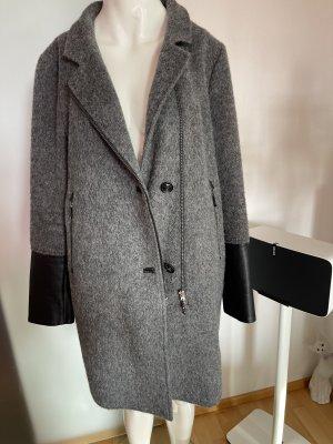 Winter Mantel von Gil Bret Gr 40 42 XL Wollmischung mit Kunstleder Details