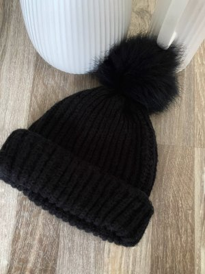 Wełniana czapka czarny