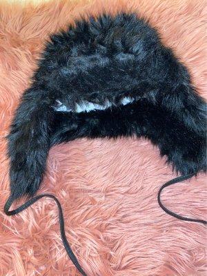 H&M Chapeau en fourrure noir
