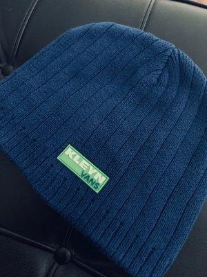 Vans Chapeau en tricot bleu-vert gazon