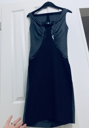 Winter Partykleid/ Cocktail/ Silvester Kleid v Miss Miss by Valentina grau schwarz Gr. M/38