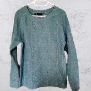 bpc Sweter z dzianiny miętowy