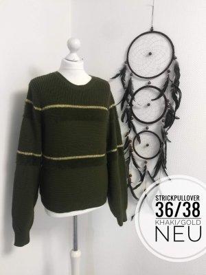 Winter Pullover Pulli sweater blogger Grobstrick Strick 36/38 vintage boho