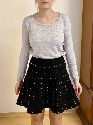 Zara Basic Circle Skirt black-white