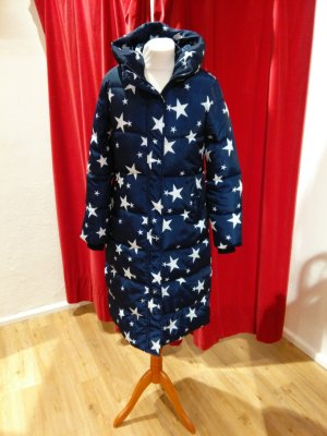 Quilted Coat dark blue-white synthetic fibre