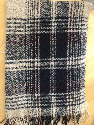 Gebreide sjaal room-bruin-paars