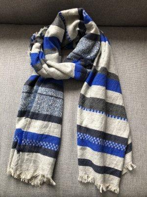 Closed Sjaal met franjes grijs-blauw