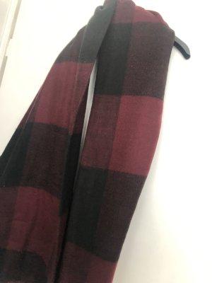 Telly Welly Sciarpa di lana nero-bordeaux