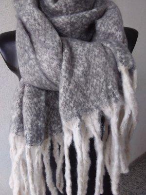Winter-Schal mit Fransen  55cm x 200cm