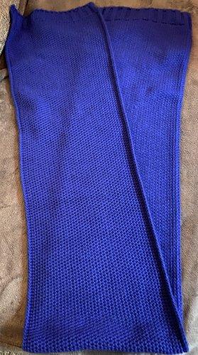 Zara Écharpe en tricot bleu