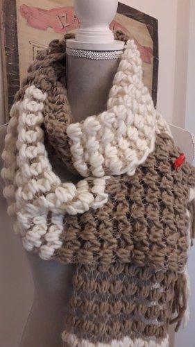 esprit collection Écharpe en tricot blanc cassé-chameau