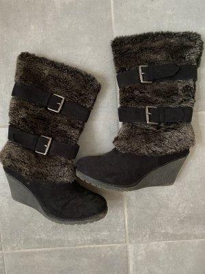 Graceland Futrzane buty Wielokolorowy