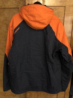 Ziener Kurtka zimowa pomarańczowy neonowy-ciemnoniebieski