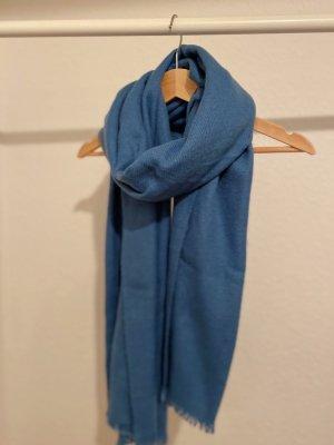 Bufanda de punto azul acero