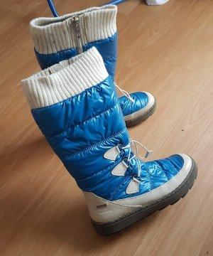 Tamaris Buty zimowe niebieski neonowy-biały Tkanina z mieszanych włókien