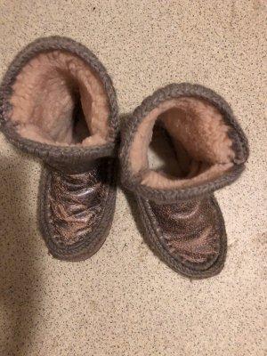 MOU Boots Buty śniegowe bladofiołkowy Skóra