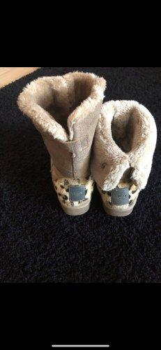 Replay Futrzane buty beżowy