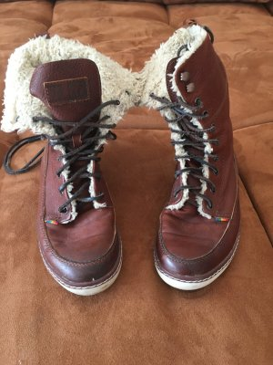 Mistral Winter Boots cognac-coloured-natural white leather