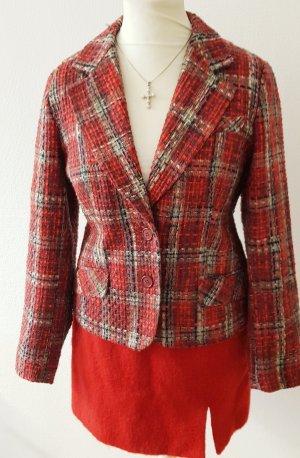 Impress Shoes Blazer en laine rouge foncé