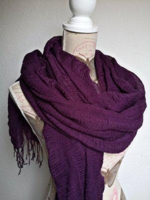 Gina Sciarpa lavorata a maglia lilla