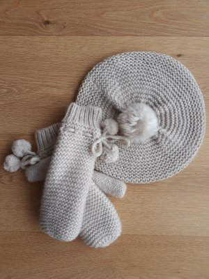 H&M Knitted Hat cream polyacrylic