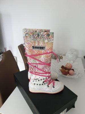 Snow Boots white-magenta