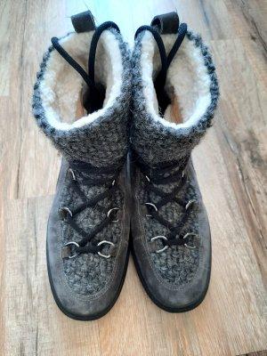Kennel + schmenger Bottes de neige gris tissu mixte
