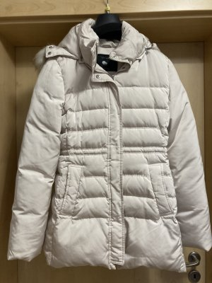 Zara Woman Manteau en duvet blanc cassé-crème tissu mixte