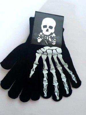 Gloves black-white