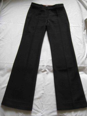 Mango Pantalón de lana negro Algodón