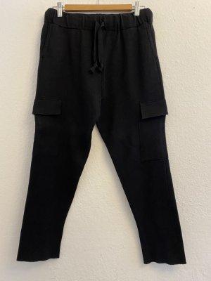 Zara Knit Joggingbroek zwart Viscose