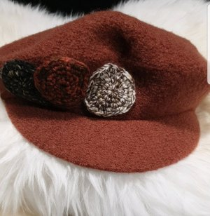 Fabric Hat cognac-coloured