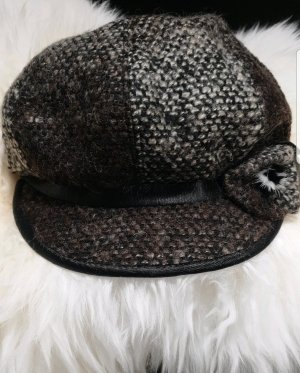 Fabric Hat black-dark brown