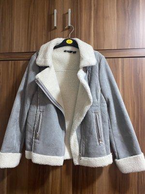 Esmara Giacca di lana bianco sporco-grigio