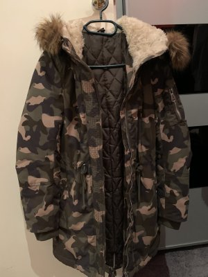 H&M Hooded Coat multicolored