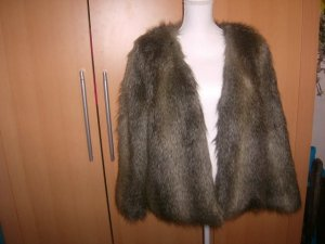 H&M Fake Fur Jacket multicolored polyacrylic